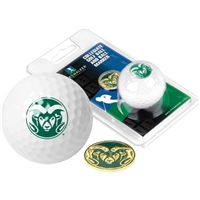 Colorado State Rams Golf Ball w/ Ball Marker