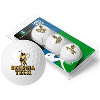 Georgia Tech Yellow Jackets 3 Golf Ball Sleeve Pack