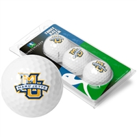 Marquette Golden Eagles 3 Golf Ball Sleeve Pack