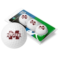 Mississippi State Bulldogs 3 Golf Ball Sleeve Pack