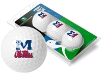 Ole Miss Rebels 3 Golf Ball Sleeve Pack