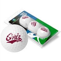 Montana Grizzlies 3 Golf Ball Sleeve Pack
