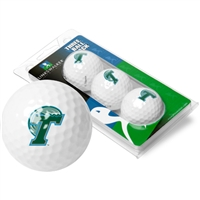 Tulane Green Wave 3 Golf Ball Sleeve Pack