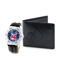 Cleveland Indians MLB Men's Watch & Wallet Set