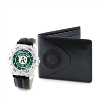 Oakland Athletics MLB Men's Watch & Wallet Set