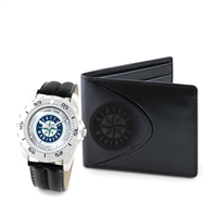 Seattle Mariners MLB Men's Watch & Wallet Set