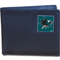 NHL Bifold Wallet in Box - San Jose Sharks