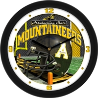 "Appalachian State Mountaineers 12"" Football Helmet Wall Clock"