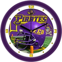 "East Carolina (ECU) Pirates 12"" Football Helmet Wall Clock"