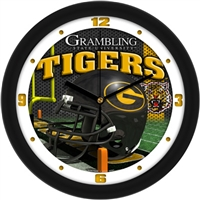 "Grambling Tigers 12"" Football Helmet Wall Clock"