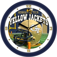 "Georgia Tech Yellow Jackets 12"" Football Helmet Wall Clock"