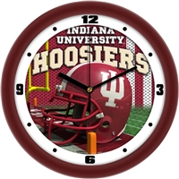 "Indiana Hoosiers 12"" Football Helmet Wall Clock"
