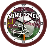 "Massachusetts (UMass) Minutemen 12"" Football Helmet Wall Clock"