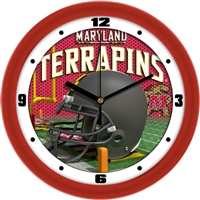 "Maryland Terrapins 12"" Football Helmet Wall Clock"