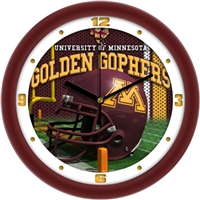 "Minnesota Golden Gophers 12"" Football Helmet Wall Clock"