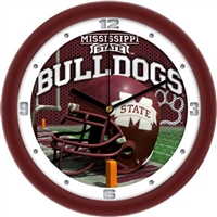 "Mississippi State Bulldogs 12"" Football Helmet Wall Clock"