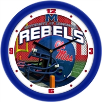 "Mississippi Ole Miss Rebels 12"" Football Helmet Wall Clock"