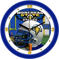 "Morehead State MSU Eagles 12"" Football Helmet Wall Clock"