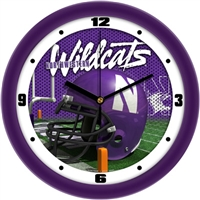 "Northwestern Wildcats 12"" Football Helmet Wall Clock"