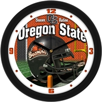 "Oregon State Beavers 12"" Football Helmet Wall Clock"