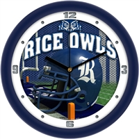 "Rice Owls 12"" Football Helmet Wall Clock"