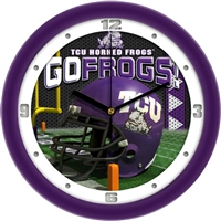 "Texas Christian (TCU) Horned Frogs 12"" Football Helmet Wall Clock"
