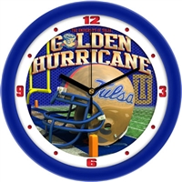 "Tulsa Golden Hurricane 12"" Football Helmet Wall Clock"