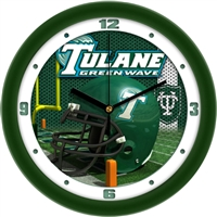 "Tulane Green Wave 12"" Football Helmet Wall Clock"
