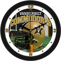 "Vanderbilt Commodores 12"" Football Helmet Wall Clock"