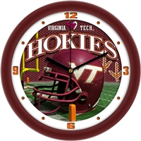 "Virginia Tech Hokies 12"" Football Helmet Wall Clock"