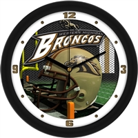 "Western Michigan Broncos 12"" Football Helmet Wall Clock"