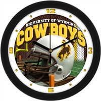 "Wyoming Cowboys 12"" Football Helmet Wall Clock"