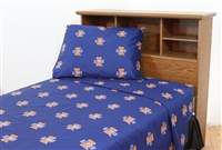Illinois Fighting Illini Printed Sheet Set Queen - Solid