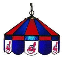 Cleveland Indians MLB 16 Inch Billiards Stained Glass Lamp