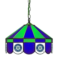 Seattle Mariners MLB 16 Inch Billiards Stained Glass Lamp