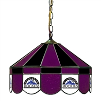 Colorado Rockies MLB 16 Inch Billiards Stained Glass Lamp