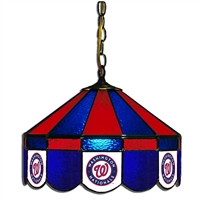 Washington Nationals MLB 16 Inch Billiards Stained Glass Lamp