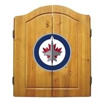 Winnipeg Jets NHL Dart Board w/Cabinet