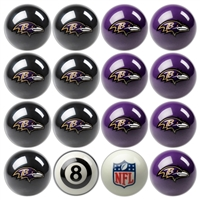 Baltimore Ravens NFL 8-Ball Billiard Set