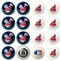 Cleveland Indians MLB 8-Ball Billiard Set