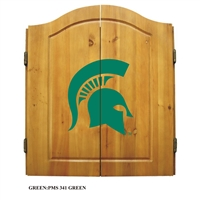 Michigan State Spartans NCAA Dart Board w/Cabinet