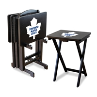 Toronto Maple Leafs NHL TV Tray Set with Rack