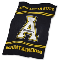 Appalachian State Mountaineers NCAA UltraSoft Fleece Throw Blanket (84in x 54in)
