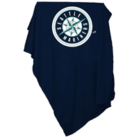Seattle Mariners MLB Sweatshirt Blanket