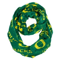 Oregon Ducks NCAA Sheer Infinity Scarf