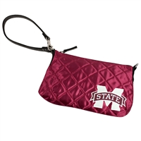 Mississippi State Bulldogs NCAA Quilted Wristlet (Dark Red)