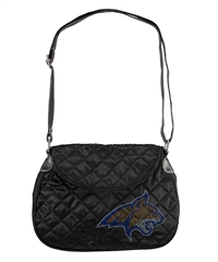 Montana State Bobcats NCAA Sport Noir Quilted Saddlebag