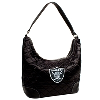 Little Earth Oakland Raiders NFL Quilted Hobo (Black)