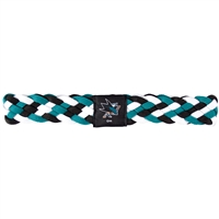 San Jose Sharks NHL Braided Head Band 6 Braid