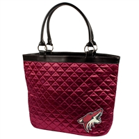 Arizona Coyotes NBA Quilted Tote (Dark Red)